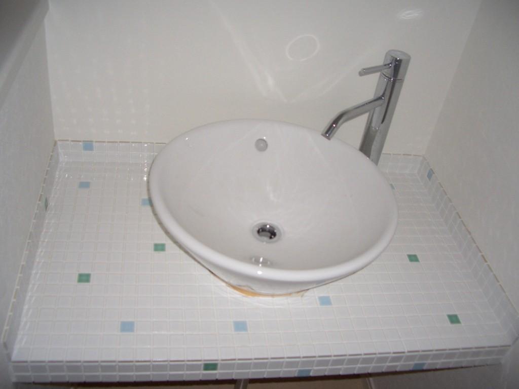 自宅サロンインテリア洗面所